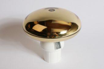 Goudkleurige, platte, roterende mastknop met adapter