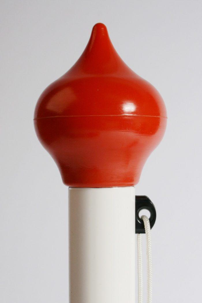 Mastknop vast, peervorm,oranje + koordgeleider + koord