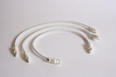Mastring rubber-nylon wit 3 stuks