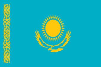 Kazachstan vlag