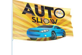 Auto show vlag