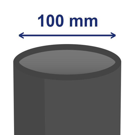 100 mm inwendig