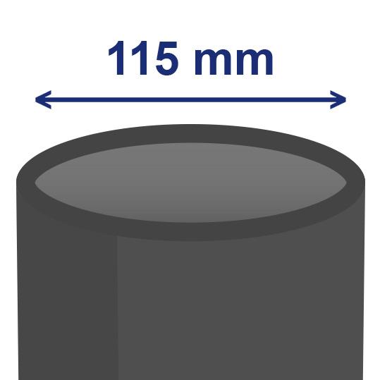 115 mm inwendig