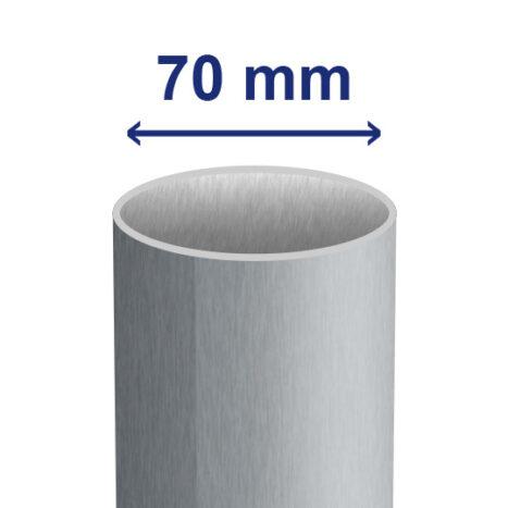 70 mm inwendig