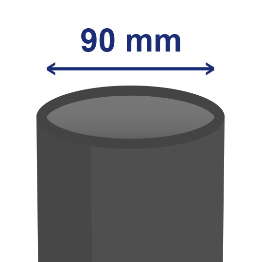 90 mm inwendig