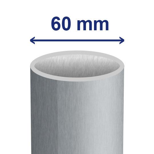 60 mm (ca. 54 mm inwendig)