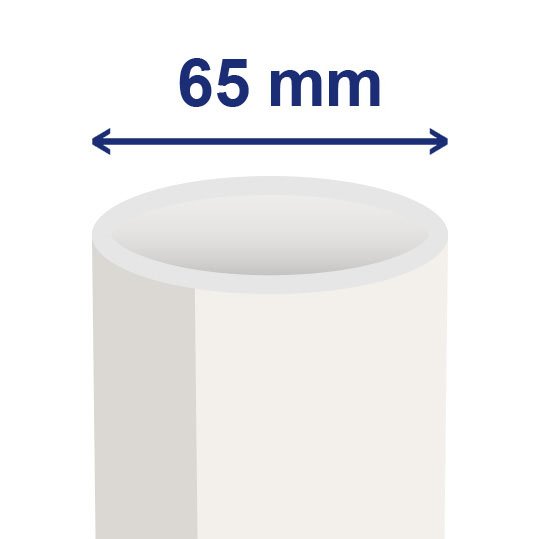 65 mm (ca. 54 mm inwendig)