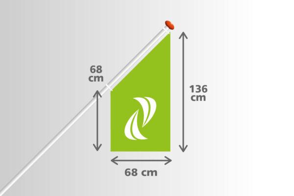 Kioskvlag 68x68x136