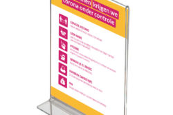 A4 poster in plexiglas standaard