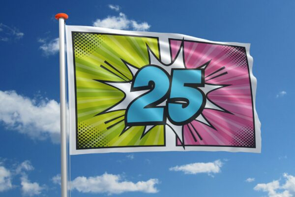 Verjaardagsvlag 25