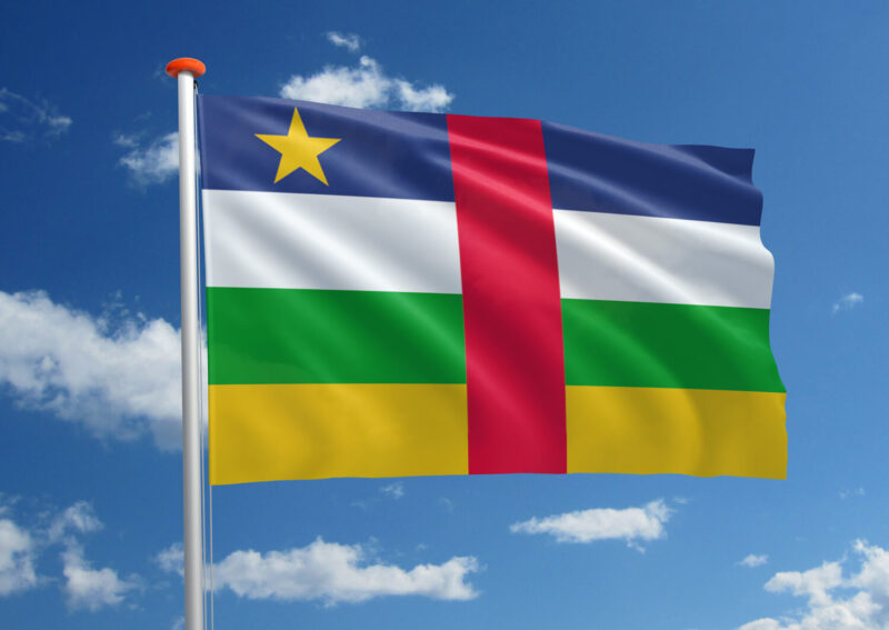 Vlag van de Centraal Afrikaanse Republiek