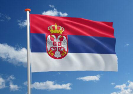 Vlag van Servië