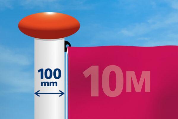 Vlag mast 100 mm diameter