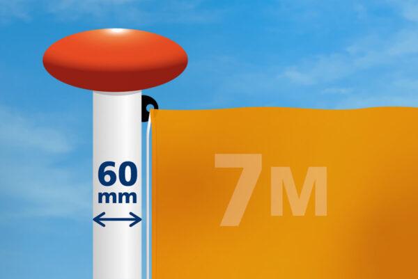Vlag mast 60 mm diameter