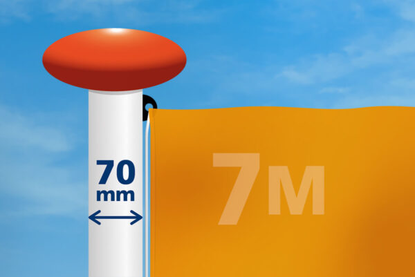 Vlag mast 70 mm diameter