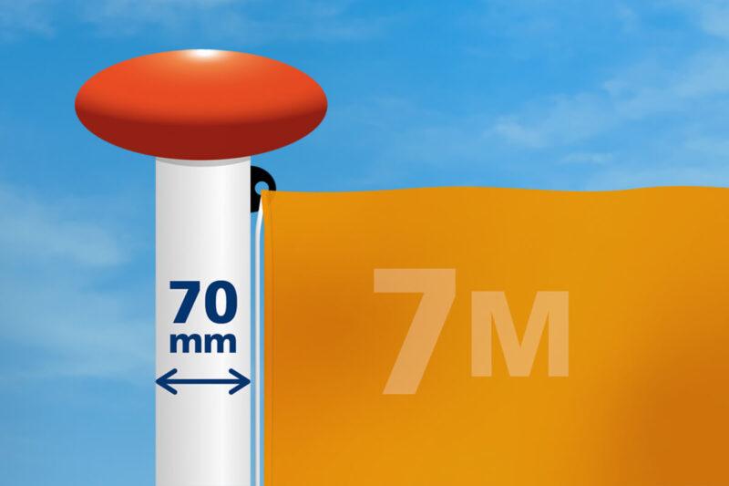 Vlag mast 70 mm diameter
