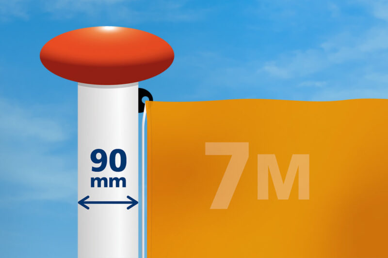 Vlag mast 90 mm diameter