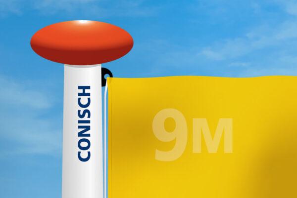 Vlag mast conisch diameter
