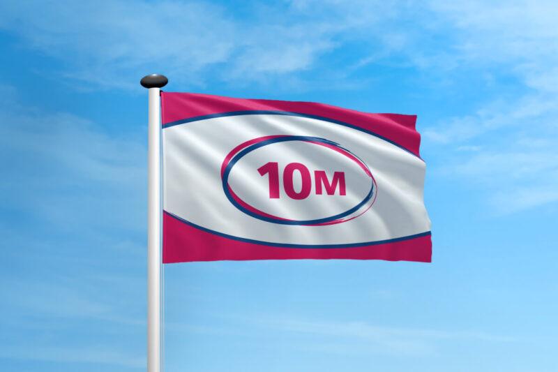 Polyester vlag mast 10 meter