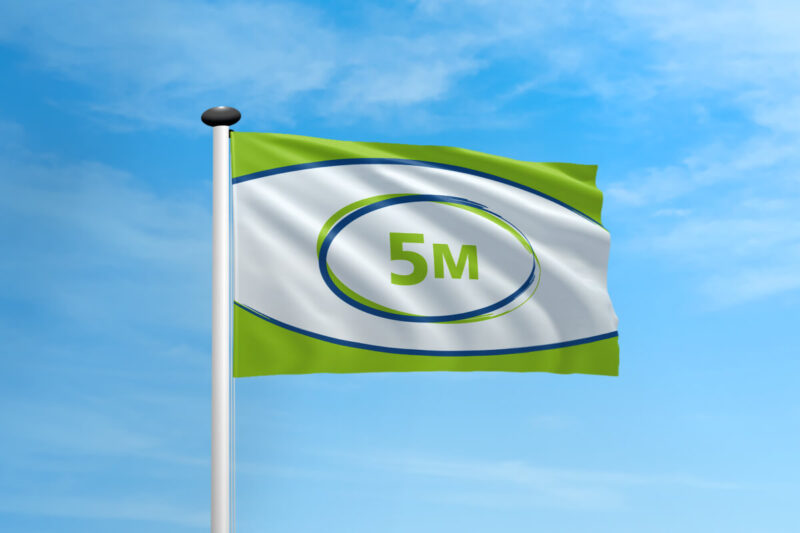 Polyester vlag mast 5 meter