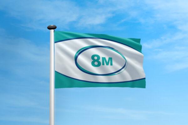 Polyester vlag mast 8 meter