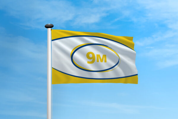 Polyester vlag mast 9 meter