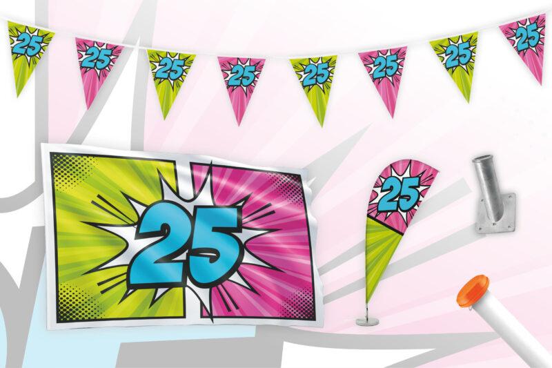 Partypakket 25 jaar Large