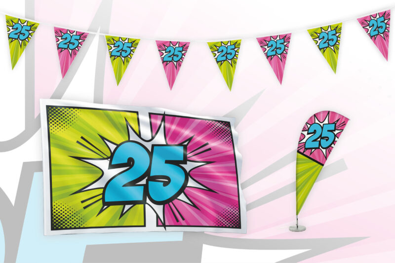 Partypakket 25 jaar Medium