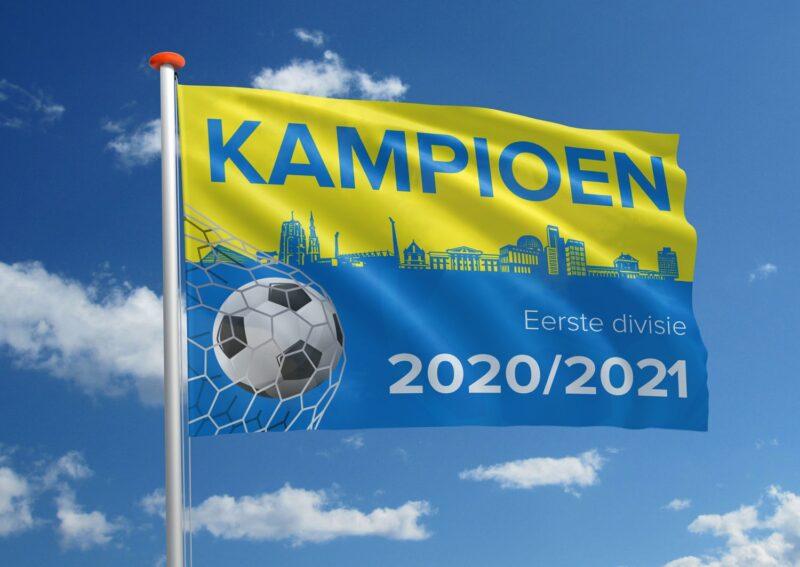 Voetbal kampioen SC Cambuur vlag